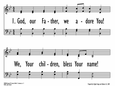 GOD, OUR FATHER, WE ADORE YOU-ppt