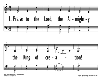 PRAISE TO THE LORD, THE ALMIGHTY-ppt