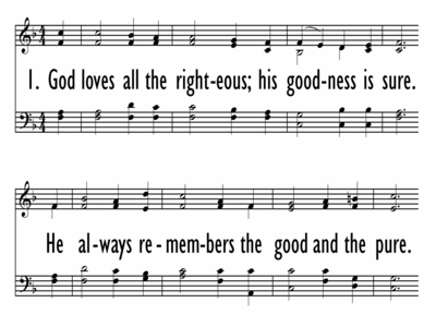 GOD LOVES ALL THE RIGHTEOUS-ppt