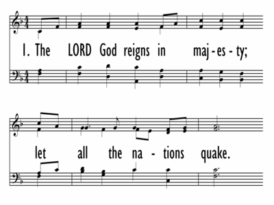 THE LORD GOD REIGNS IN MAJESTY-ppt