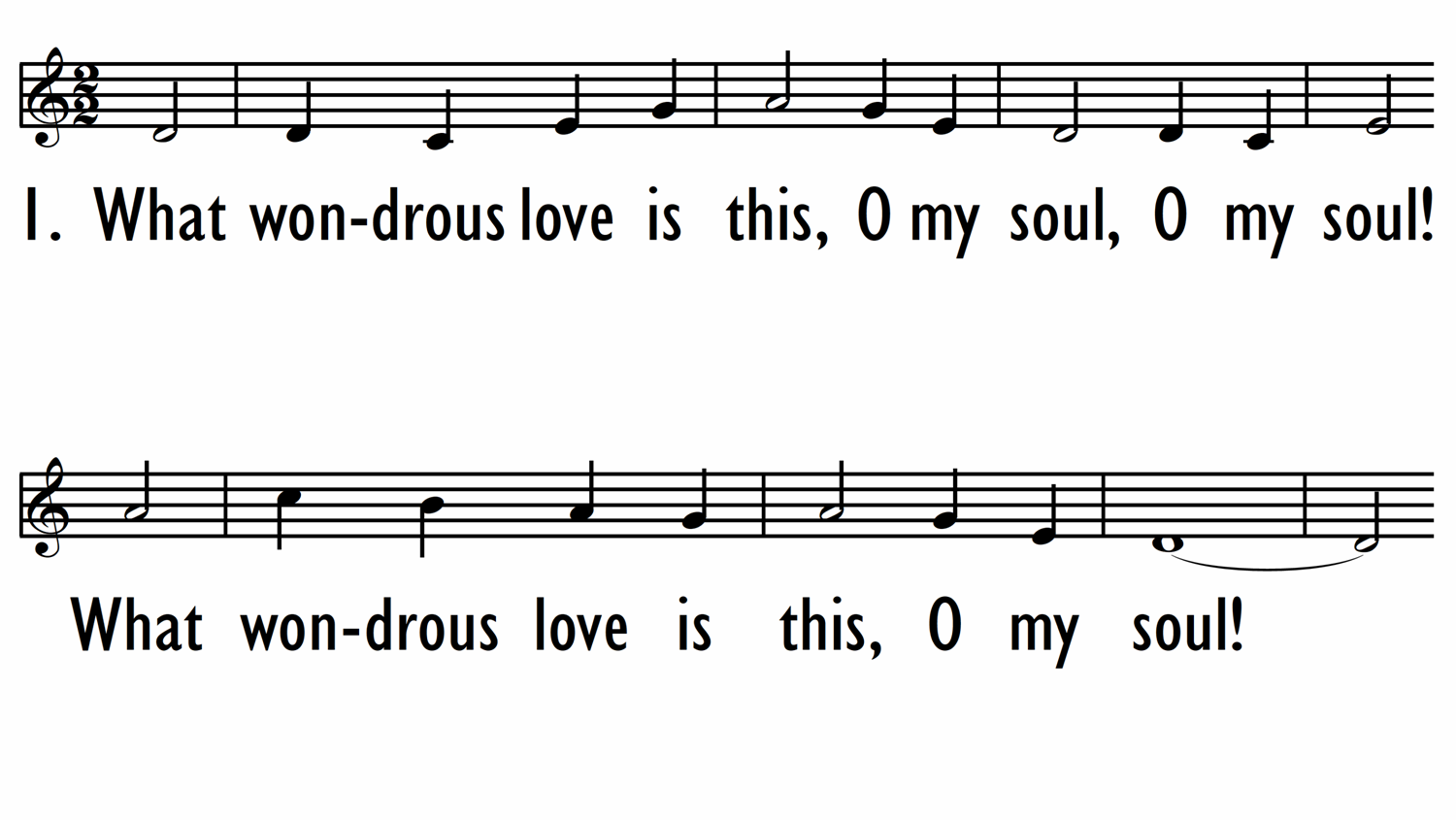 WHAT WONDROUS LOVE IS THIS - Lead line-ppt