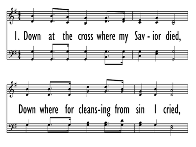 DOWN AT THE CROSS-ppt