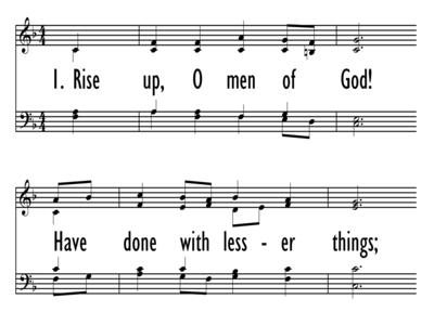 RISE UP, O MEN OF GOD-ppt