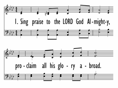 SING PRAISE TO THE LORD GOD ALMIGHTY-ppt