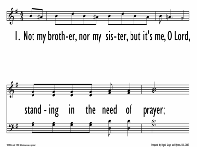 STANDING IN THE NEED OF PRAYER-ppt