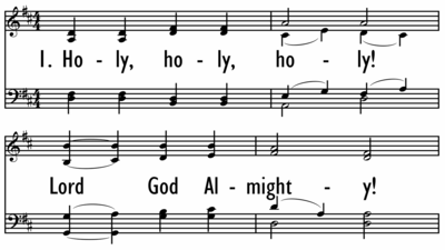 HOLY, HOLY, HOLY! LORD GOD ALMIGHTY - (No Descant)-ppt