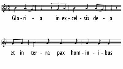 MASS OF COMMUNION - GLORIA (Latin) -  Lead Line-ppt