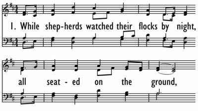 WHILE SHEPHERDS WATCHED THEIR FLOCKS-ppt
