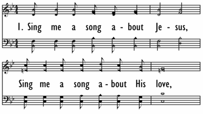 SING ME A SONG ABOUT JESUS - Shaped Notes-ppt