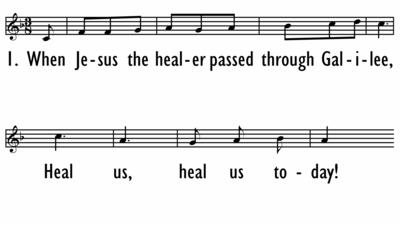 WHEN JESUS THE HEALER - Lead Line-ppt