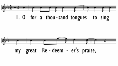 O FOR A THOUSAND TONGUES TO SING - Lead Line-ppt