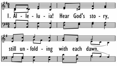 ALLELUIA! HEAR GODS STORY-ppt