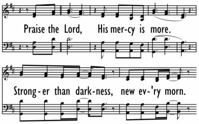 HIS MERCY IS MORE - 4 parts on Chorus-ppt