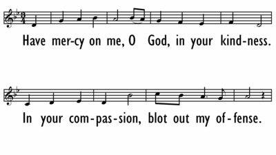 HAVE MERCY ON ME, O GOD - Lead Line-ppt