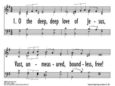 O THE DEEP, DEEP LOVE OF JESUS-ppt