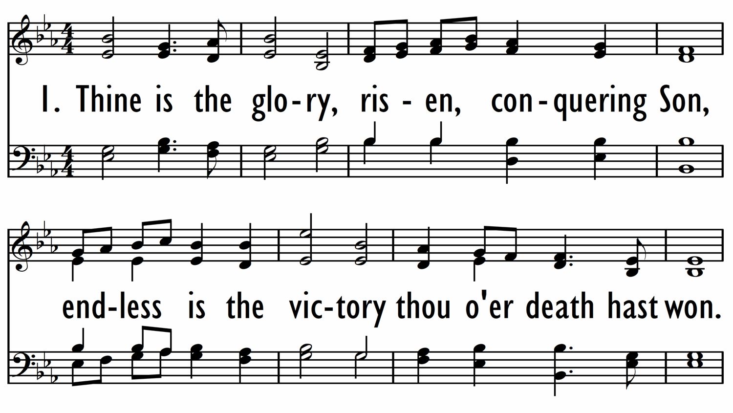 THINE IS THE GLORY-ppt