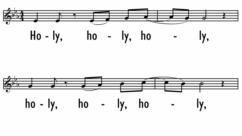 HOLY, HOLY, HOLY (SANTO, SANTO, SANTO)-ppt