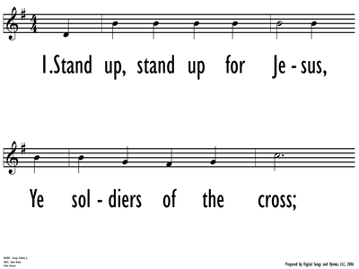 STAND UP, STAND UP FOR JESUS-ppt