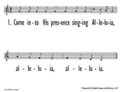 COME INTO HIS PRESENCE - Lead Line-ppt