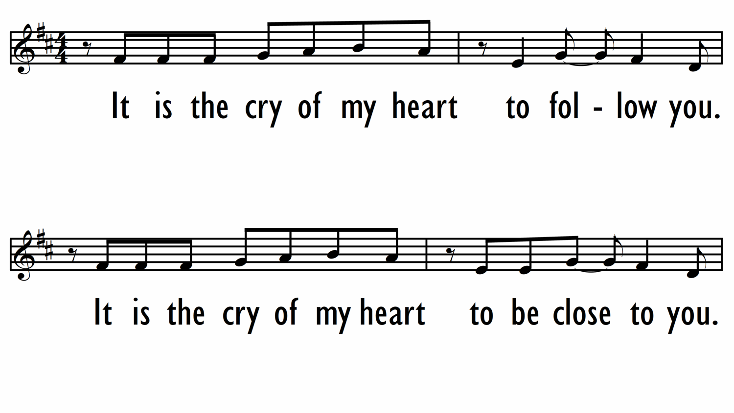 CRY OF MY HEART - Lead Line-ppt