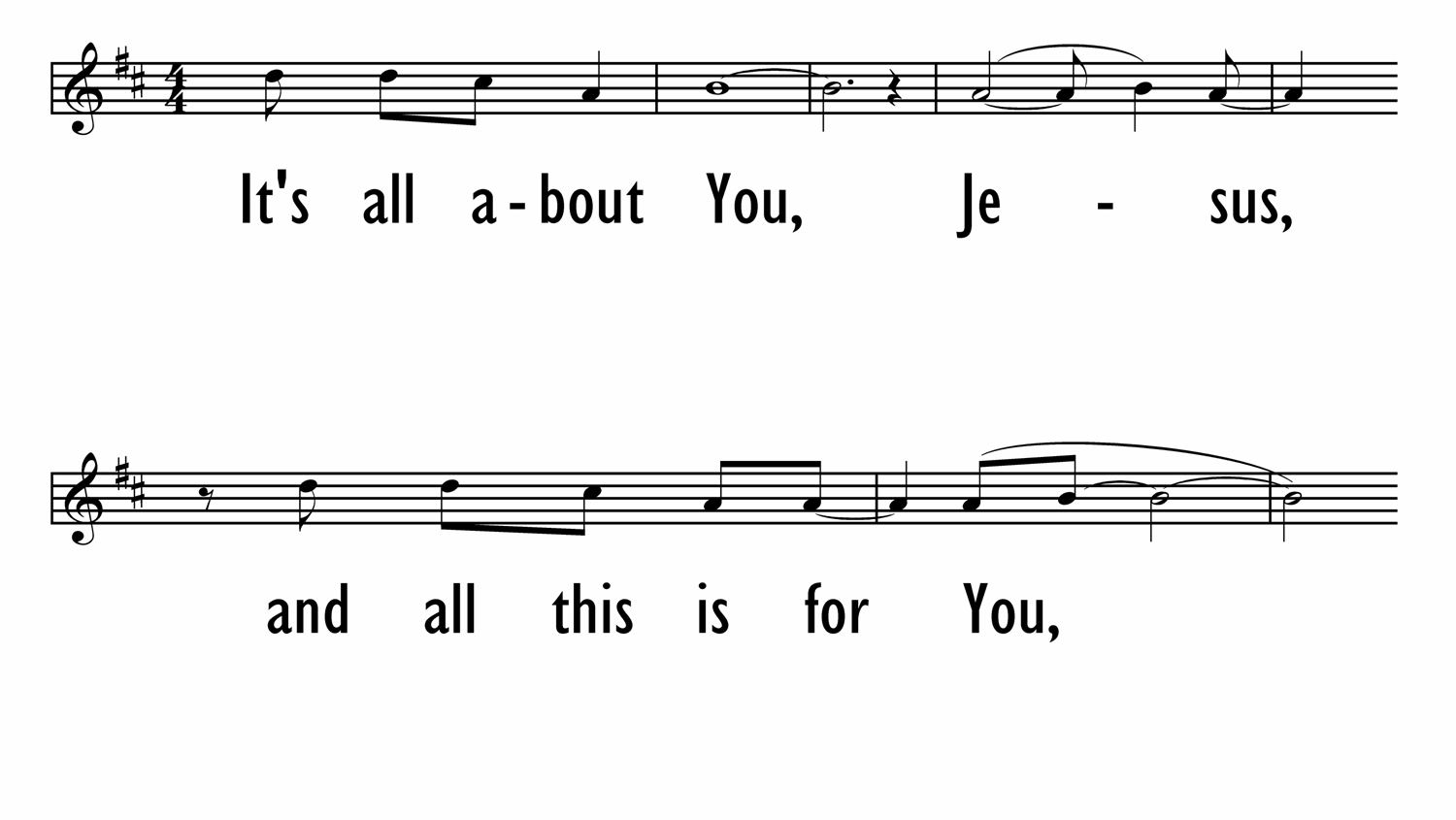 JESUS, LOVER OF MY SOUL (IT'S ALL ABOUT YOU) - Lead Line-ppt