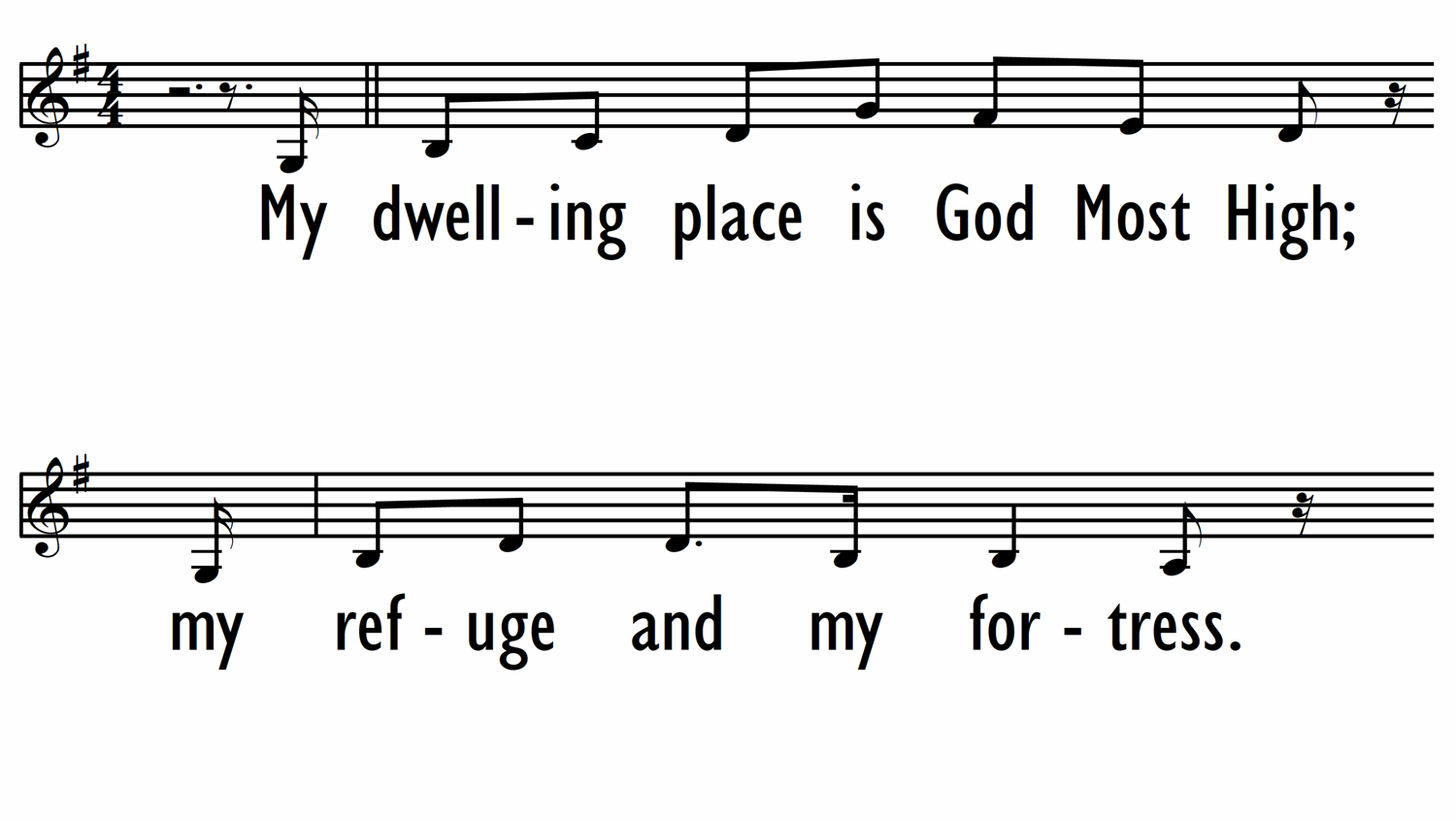 MY DWELLING PLACE (PSALM 91) - Lead Line-ppt