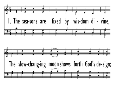 THE SEASONS ARE FIXED BY WISDOM DIVINE-ppt