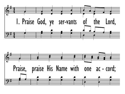 PRAISE GOD, YE SERVANTS OF THE LORD-ppt