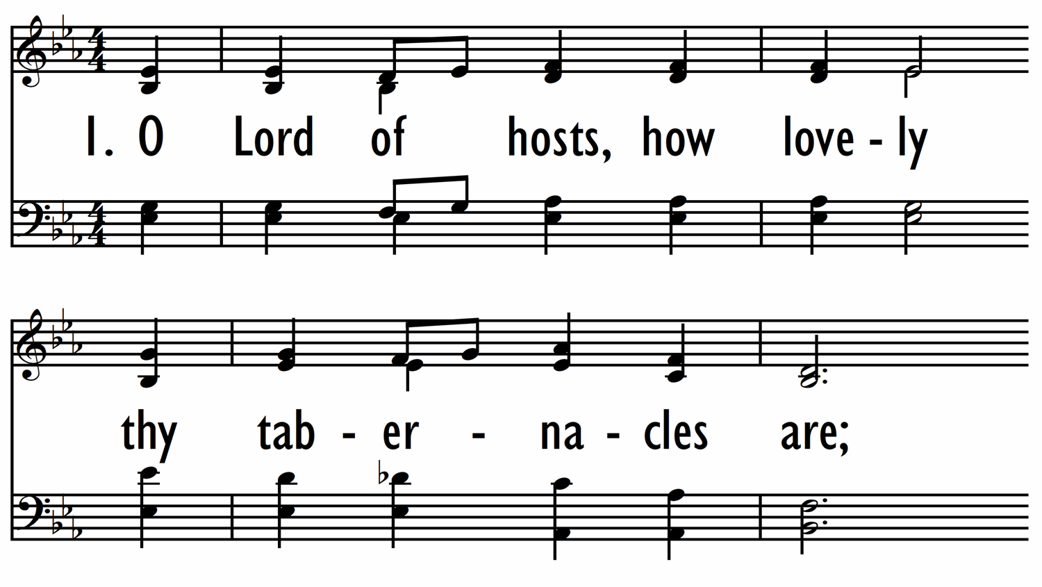 O LORD OF HOSTS, HOW LOVELY-ppt