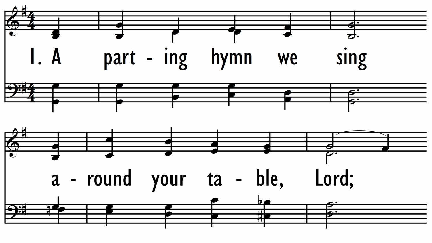 A PARTING HYMN WE SING-ppt