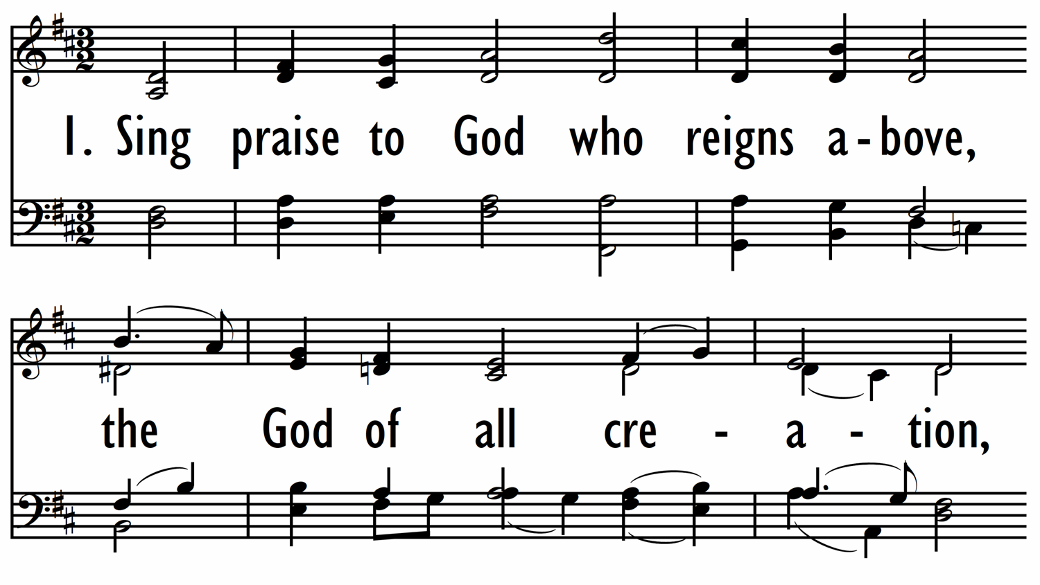 SING PRAISE TO GOD WHO REIGNS ABOVE-ppt