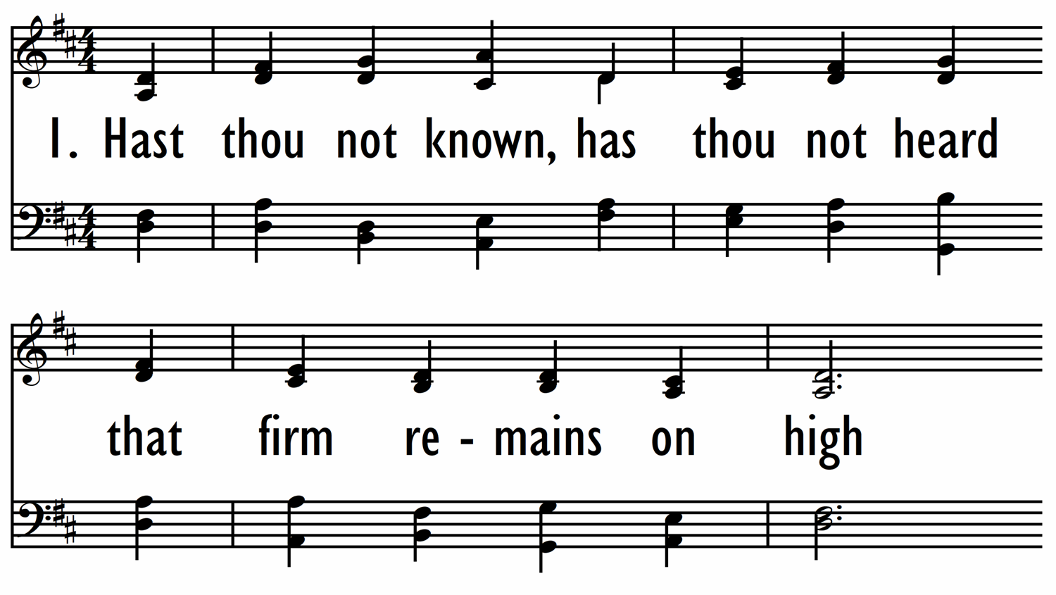 HAST THOU NOT KNOWN, HAST THOU NOT HEARD-ppt