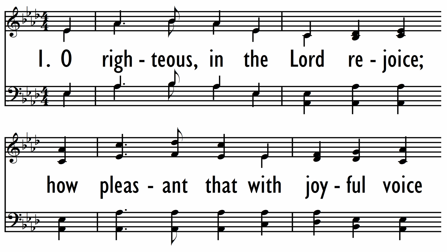 O RIGHTEOUS, IN THE LORD REJOICE-ppt
