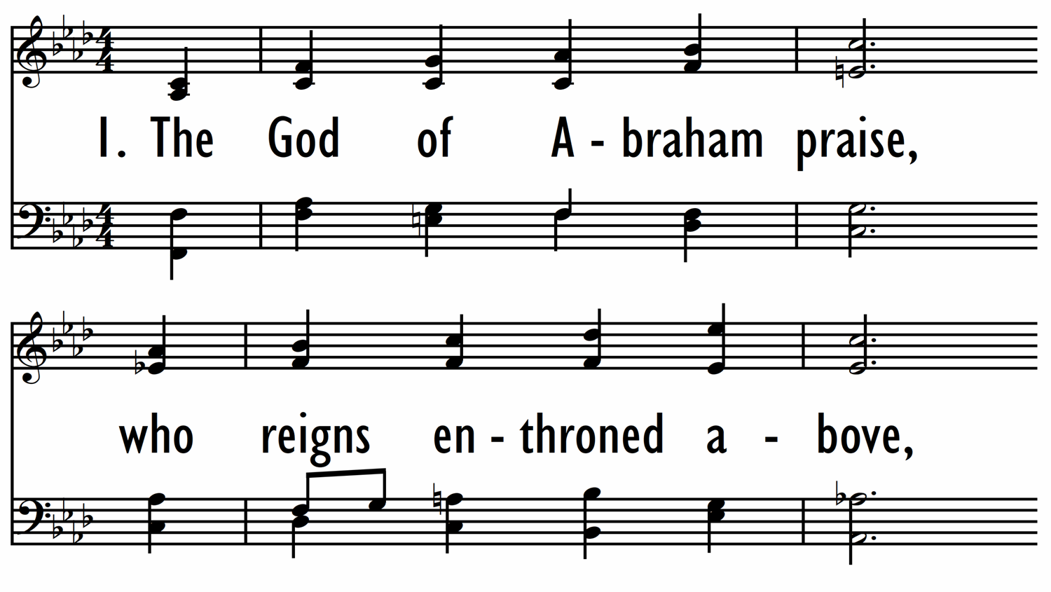 THE GOD OF ABRAHAM PRAISE-ppt