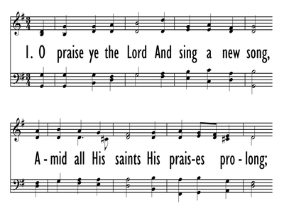 O PRAISE YE THE LORD-ppt