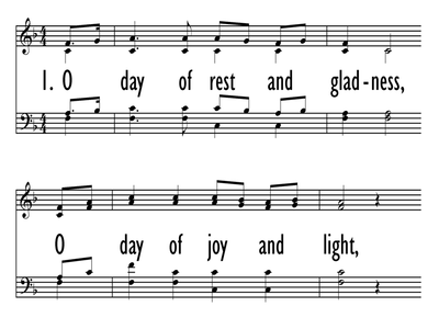 O DAY OF REST AND GLADNESS-ppt