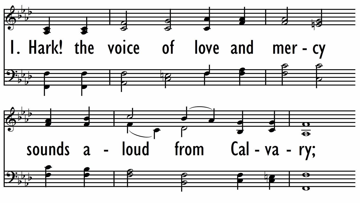 HARK! THE VOICE OF LOVE AND MERCY-ppt