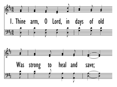 THINE ARM, O LORD, IN DAYS OF OLD-ppt