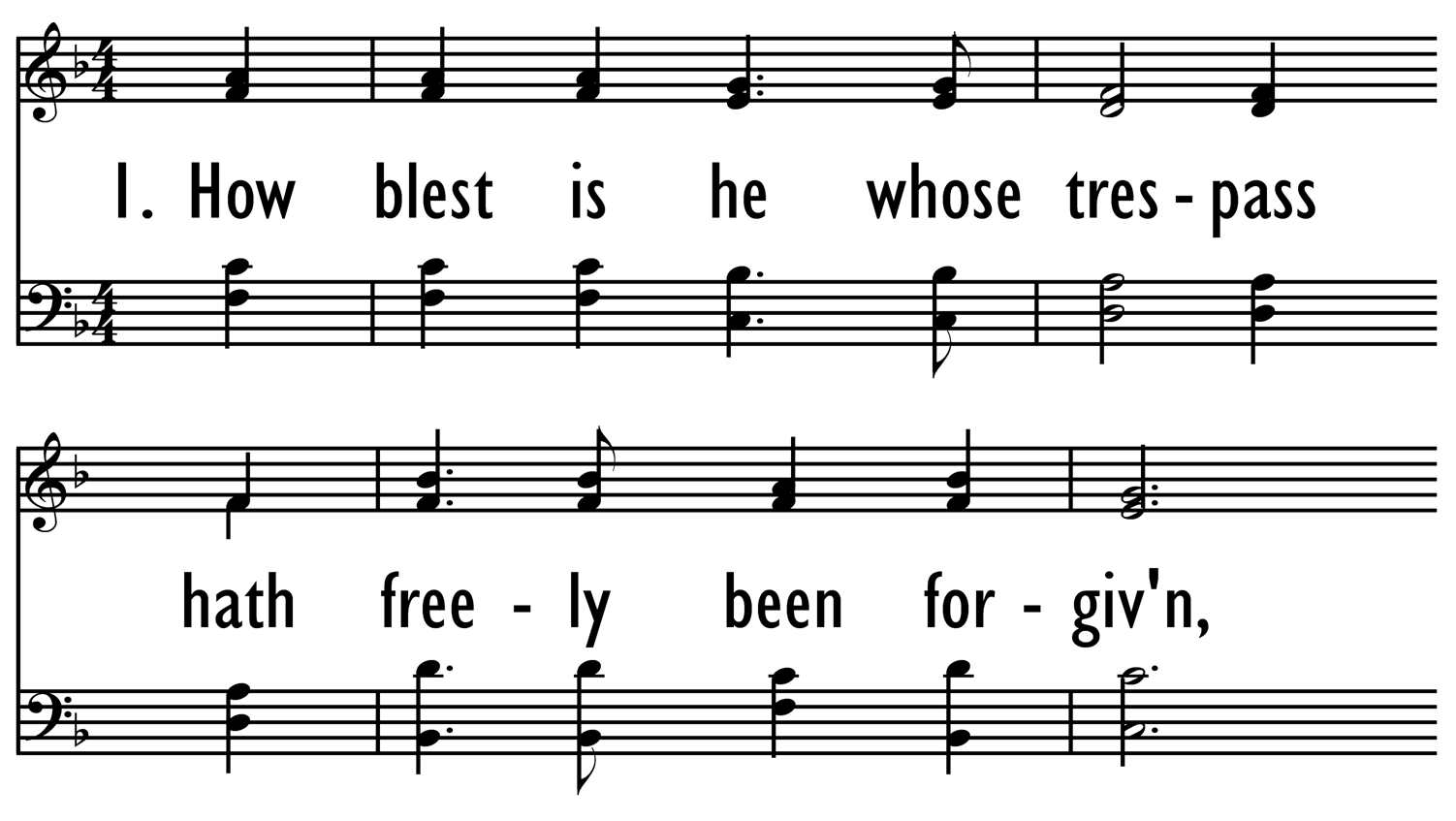 HOW BLEST IS HE WHOSE TRESPASS-ppt