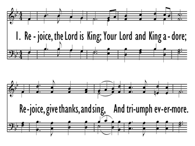 REJOICE, THE LORD IS KING-ppt