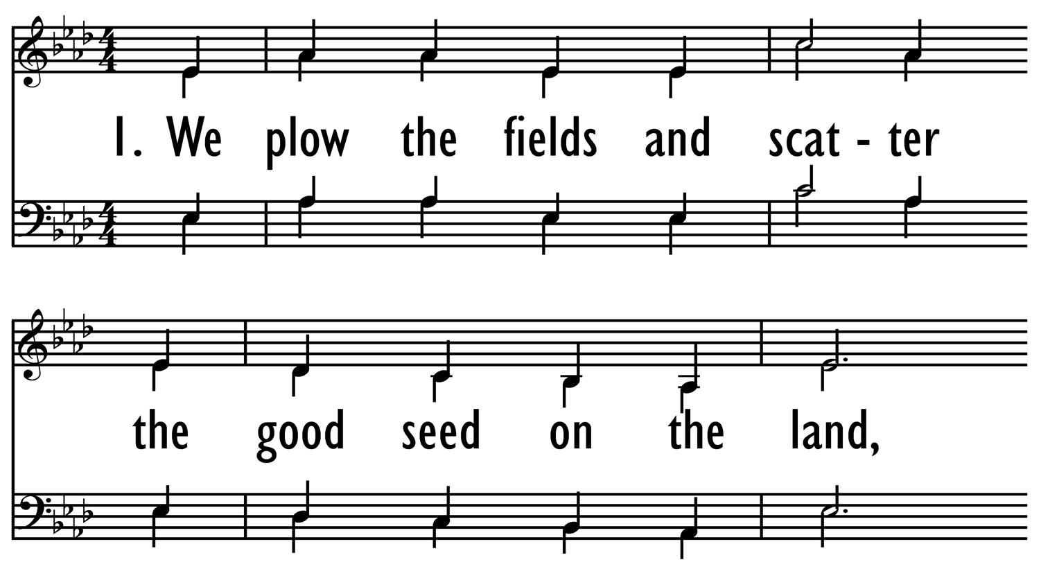 WE PLOW THE FIELDS-ppt