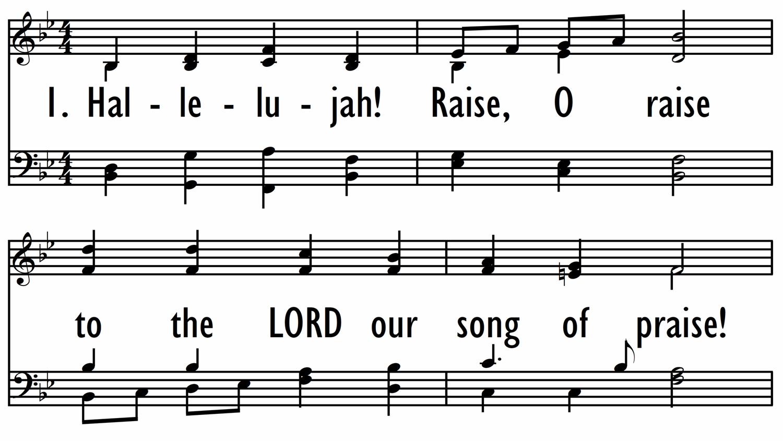 HALLELUJAH! RAISE, O RAISE-ppt