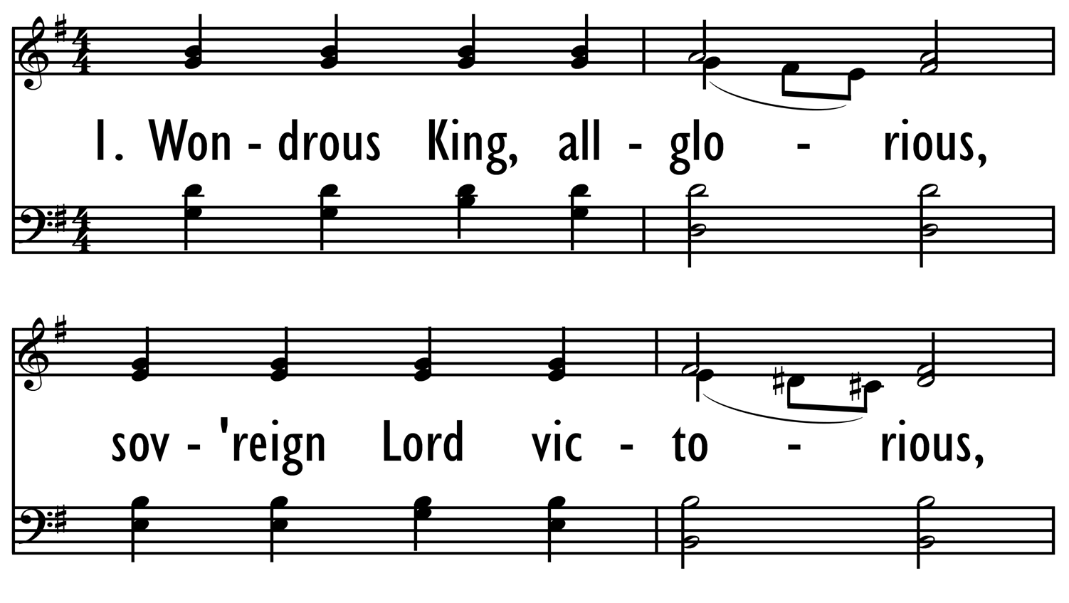 WONDROUS KING, ALL-GLORIOUS-ppt