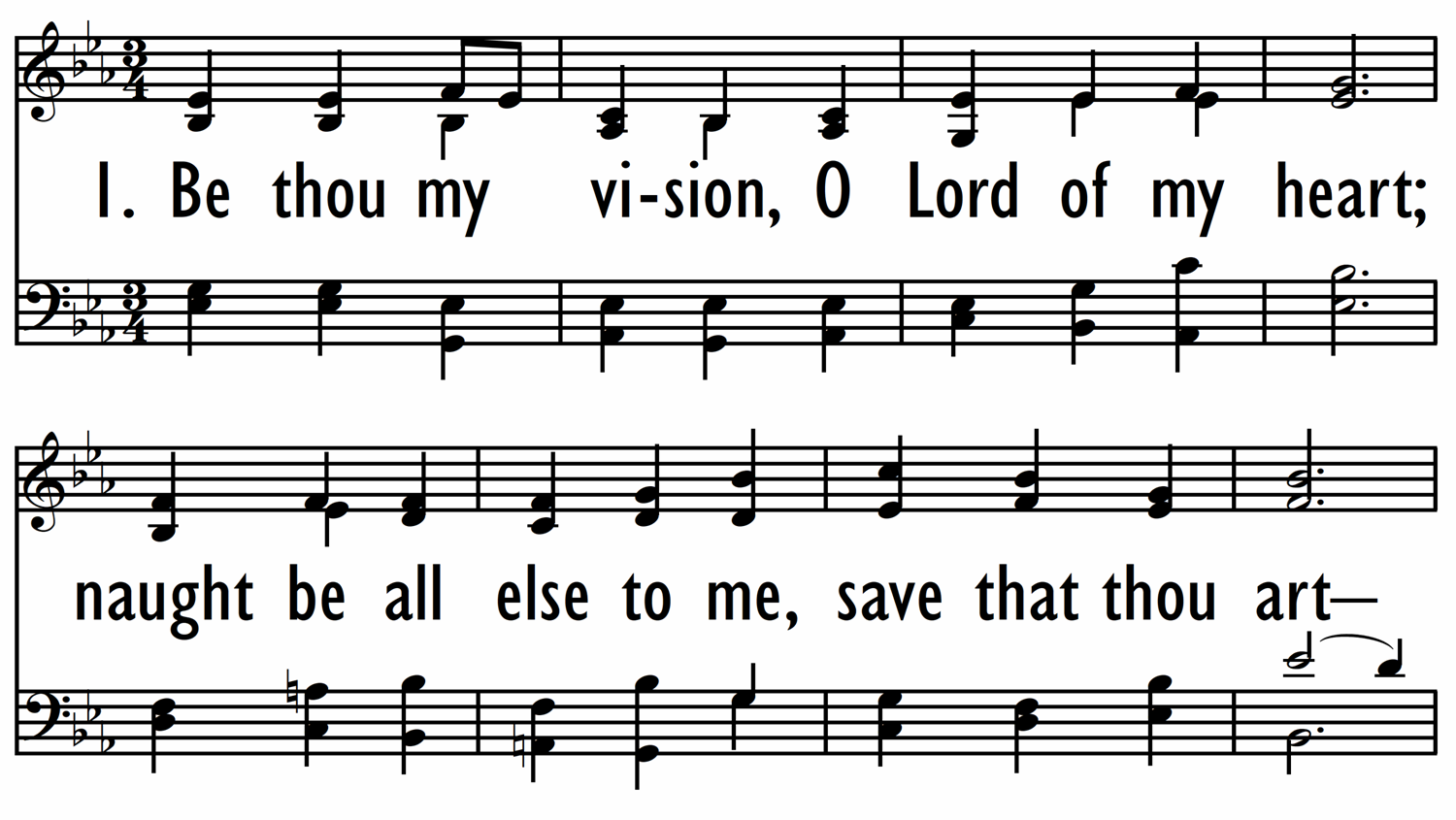 BE THOU MY VISION-ppt