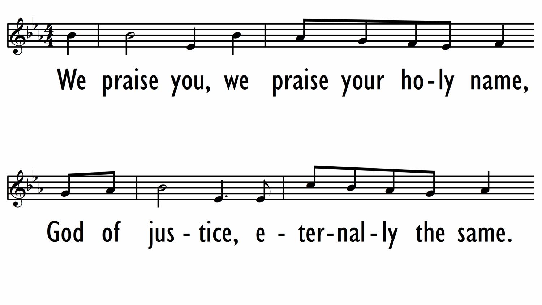 WE PRAISE YOU (LAUDATE, LAUDATE DOMINUM)-ppt