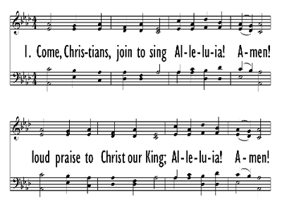 COME, CHRISTIANS JOIN TO SING-ppt