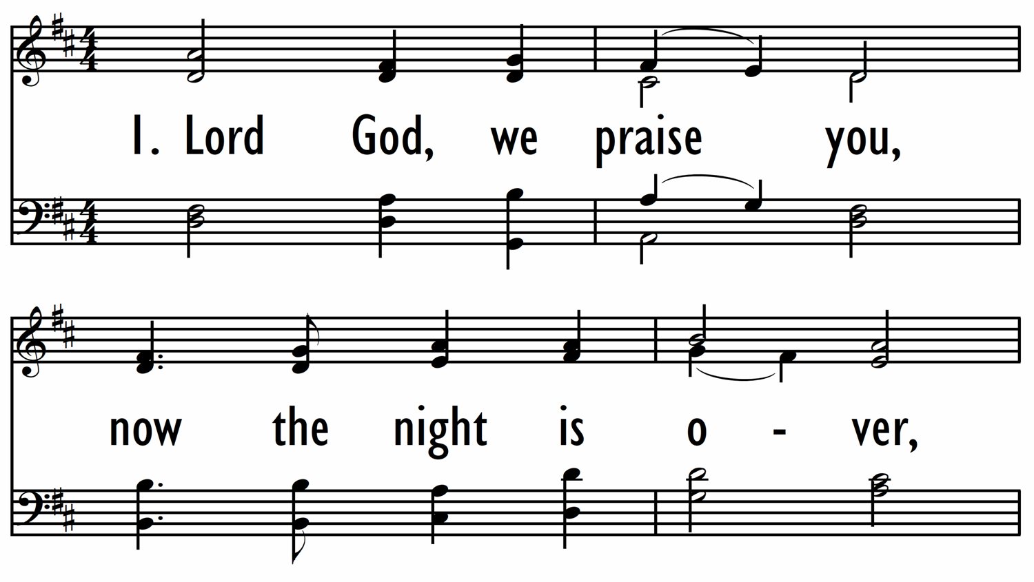 LORD GOD, WE PRAISE YOU-ppt