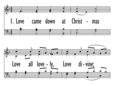 LOVE CAME DOWN AT CHRISTMAS-ppt